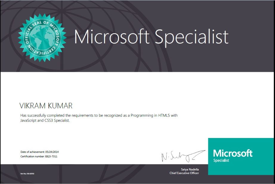 Microsoft Web Application Development Certification Choice Image
